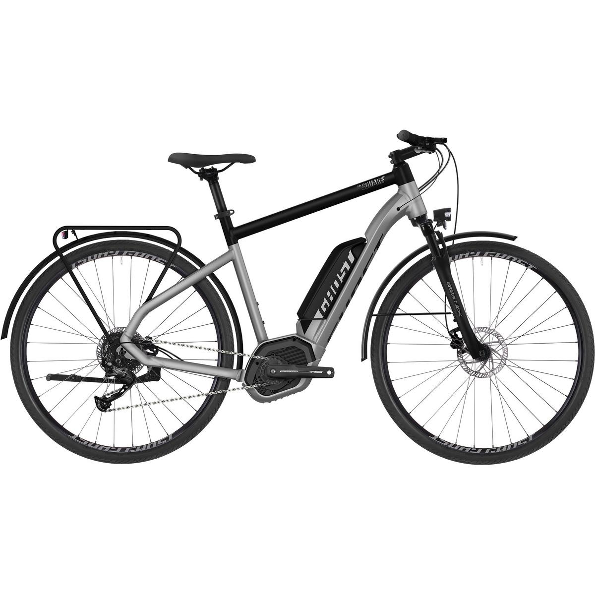 HYB Square Trekking B1.8 AL U 400 Wh, elcykel, unisex, Hvid | City