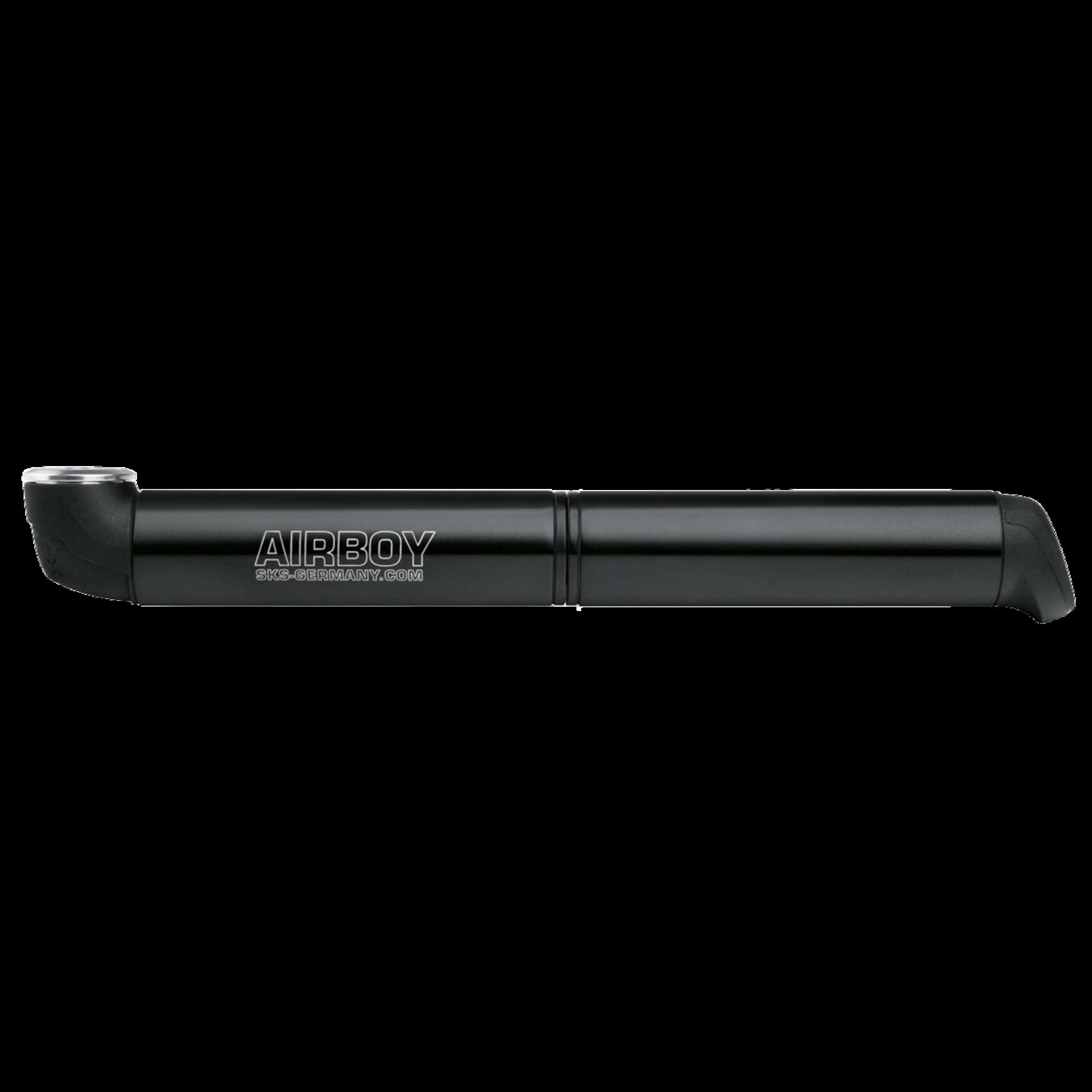 Airboy high pressure micro pump, cykelpumpe , black   Minipumper