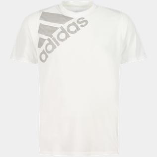 adidas FreeLift Badge Of Sport Tee, T shirt, herre Hvid Trænings T Shirts | XXL