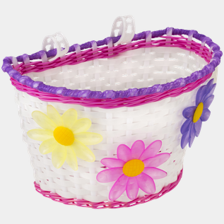 Kids Bike Basket w/flower